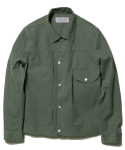 디아프바인(diafvine) DV. LOT494 COTTON TRUCKER JKT TYPE.1 -KHAKI- (BIOFADE)