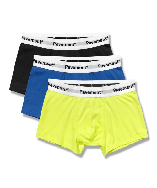 페이브먼트(PAVEMENT) PAVEMENT COTTON TRUNKS GA (3PACK)