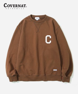 커버낫(covernat) C LOGO CREWNECK BROWN