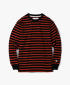 Stripe L/S Tee - Dark Orange / Black
