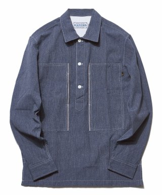 디아프바인(diafvine) DV. LOT503 SELVEDGE INDIGO COVERT PULLOVER SHIRTS -LIGHT INIDIGO-