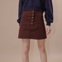 아웃스탠딩오디너리(OUTSTANDING ORDINARY) GRAM MINI SKIRTbrown