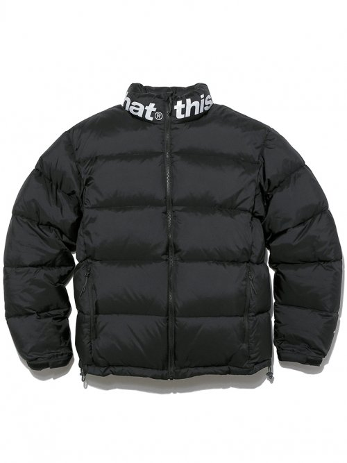 SP-Logo Puffy Down Jacket Black
