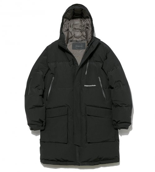 디스이즈네버댓(THISISNEVERTHAT) INTL. Logo Oversized Down Parka Black