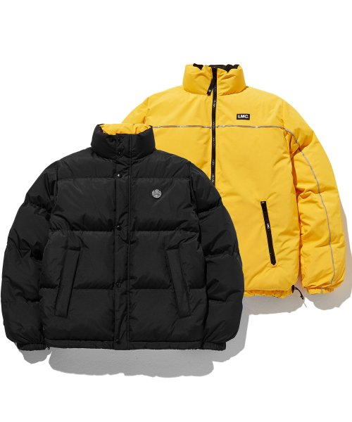 LMC RETRO REVERSIBLE DOWN PARKA bk/yl