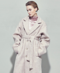 살롱드서울(SALON DE SEOUL) UNISEX WOOL BELTED SINGLE OVERCOAT (IVORY)