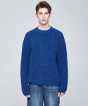 인디고칠드런(INDIGO CHILDREN) OVERSIZED ALPACA KNIT [INDIGO BLUE]