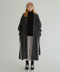 MG7F RAGLAN TRENCH WOOL COAT (CHARCOAL)