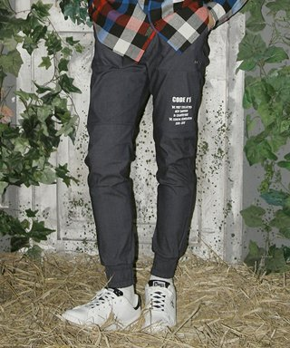 코드아이엠(codeim) WASHED DENIM JOGGER PANTS INDIGO