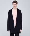 인디고칠드런(INDIGO CHILDREN) OVERSIZED HANDMADE WOOL COAT [BLACK]