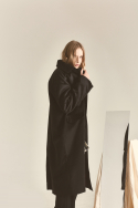 페매니쉬(FEMANISH) Over Mac Coat_Black