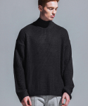어반스터프(URBANSTOFF) USF OVER HALF TURTLENECK BLACK