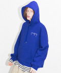 엔조 블루스(ENZO BLUES) OVERSIZE LOGO HOODY (BLUE)