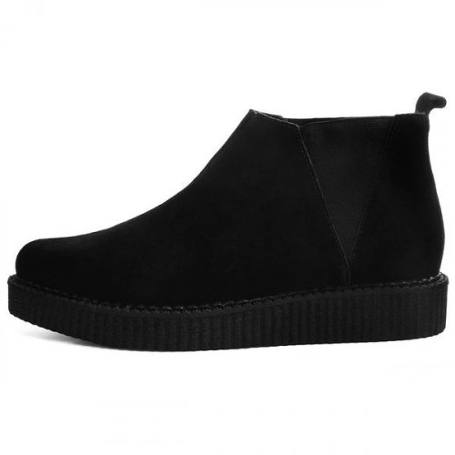티유케이(T.U.K) [T.U.K] A9306 Black Suede Chelsea Pointed Creeper Boot