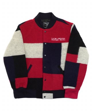 아임낫어휴먼비잉() Patch Work Stadium Jacket - Multi Color
