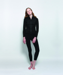 [Women] Swim Zip Jacket Black