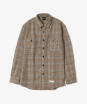 제로() Hound Tooth Check Shirts [Brown]