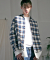 모디파이드(MODIFIED) M#1500 layered double shirt (check)