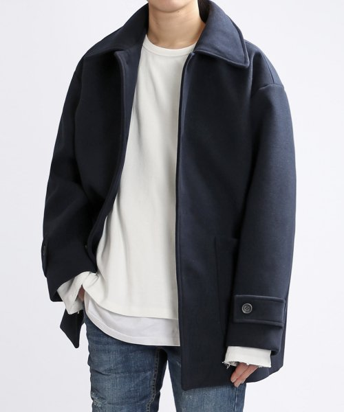 쟈니웨스트(JHONNY WEST) Dumpy Wool Coat (Zet Navy)