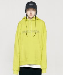 OUTLINE LOGO HOODIE yellow green