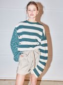 노앙(NOHANT) DOUBLE STRIPED COTTON-JERSEY T-SHIRT STRIPE-GREEN