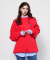 코케트 스튜디오(COQUET STUDIO) UNISEX BOX LOGO OVERSIZE SWEATSHIRT RED PINK