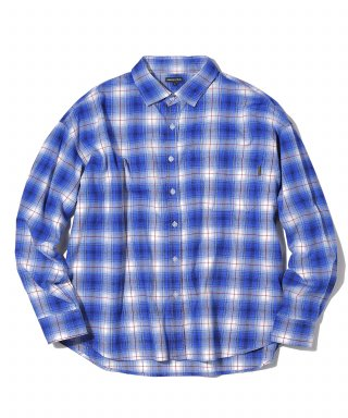 디스이즈네버댓(thisisneverthat) Oversized Check Shirt Blue