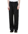 ONE TUCK WIDE BELT PANTS black