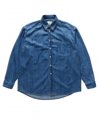 브루먼(bruman) Oversize Denim Shirts (Medium Blue)