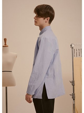 드퐁(defond) LONG LINEN COTTON SHIRTS_SKYBLUE