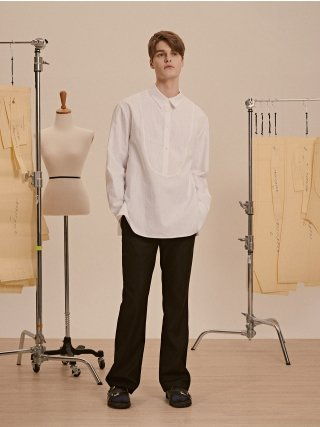 드퐁(defond) LONG LINEN COTTON SHIRTS_WHITE