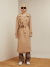 써틴먼스(13MONTH) BACK OPEN LONG TRENCH COAT (BEIGE)