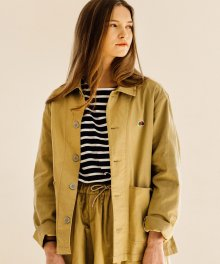 COTTON COVERALL JACKET BEIGE