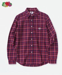 L/S 1PK CHECK SHIRTS RED