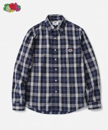 L/S 1PK CHECK SHIRTS NAVY