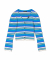 Multi Color Striped Cardigan Blue