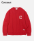 C LOGO CREWNECK RED