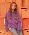 버닝(BURNING) Raglan Tape Hoodie (Purple)