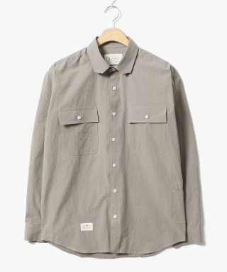 헨더(hander) Cover Cotton Shirts Brown