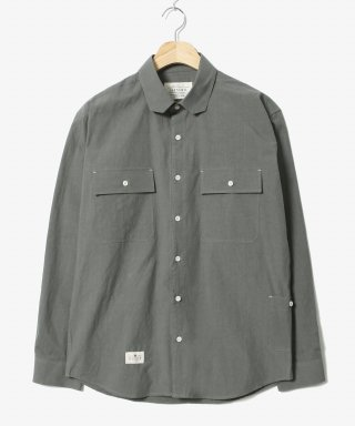 헨더(hander) Cover Cotton Shirts Grey
