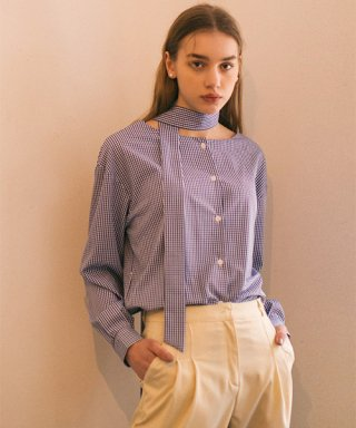 논로컬(nonlocal) Two-Way Belted Shirts - Blue