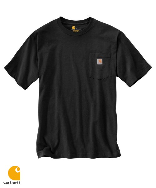 칼하트(CARHARTT) WORKWEAR POCKET T-SHIRT S/S (BLACK)