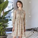 이네스(INES) FLOWER SHIRRING DRESS_BEIGE