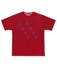 [EASY BUSY] Simple Logo T-Shirts - Red