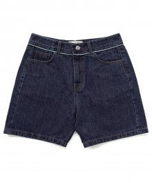 [EASY BUSY] Selvage Detail Shorts - Blue
