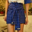 네스티킥(NASTYKICK) [NSTK] FAKE SLEEVE SKIRT (BLUE)