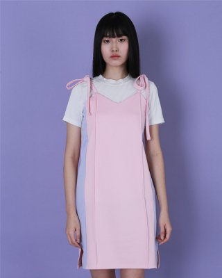 라잇루트(rightroute) Pink Side Line Track Dress [이주영]