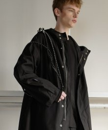 Cross Belt Rain Coat (Black)