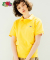 [Asian fit] WAPPEN POLO T-SHIRTS YELLOW