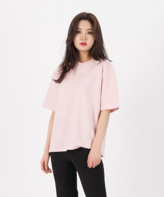 크리스브라운(chrisbrown) WOMENs CROP TOP TEE (PINK)